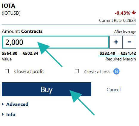 IOTA amount you want to buy